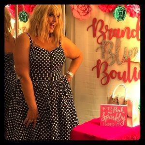 Plus Size Polka Dot Rockabilly Dress